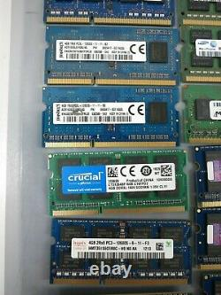 Lot of 30 4GB DDR3 DDR3L PC3 So-Dimm Laptop RAM Memory 1333MHz-1600MHz