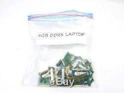 Lot of 39 RAM Sticks of 4GB DDR3 PC3 LAPTOP Memory RAM Various Brands & Speeds