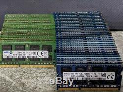 Lot of 50 8GB DDR3L Laptop RAM 1.35v Low Voltage Memory PC3L-10600S PC3L-12800S