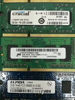 Lot of 55 / DDR3 PC3 / 2GB / Laptop Memory RAM Mixed Speeds