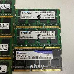 Lot of 7 8GB DDR3 2Rx8 PC3 Laptop Memory RAM Major Brands MIXED