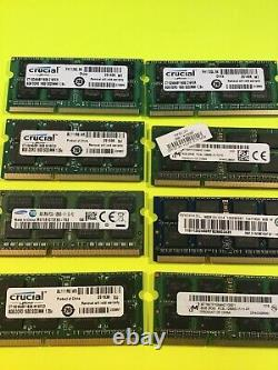 Lot of 8 Mixed Brand 8GB PC3L/PC3 laptop Memory Ram Tested F1-X3-f4