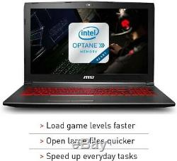 MSI GV62 8RD-200 15.6 Laptop, Intel i5-8300H, 8GB RAM, 16GB Memory+1TB
