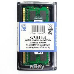 Memoria Ram Memory Kingston 4gb 2rx8 Pc3l 12800s Cl11 Ddr3 So DIMM 1.35v Laptop