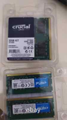 Memory Ram Crucial Ddr4 32gb 3200 Mhz Sodimm Laptop New 2x16gb