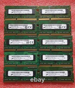 Micron Job Lot 10x4GB DDR3 PC3L-12800S 1600MHz SODIMM Laptop RAM Memory 204pin