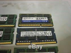 Mixed Lot of 12 8GB Laptop DDR3 PC3 PC3L Laptop Memory RAM lot free shipping