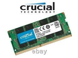 NEW Crucial 32GB (1x32GB) DDR4 PC4-21300 Laptop SO-DIMM RAM Memory 2666MHz