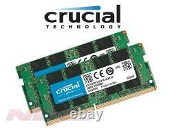 NEW Crucial 32GB (2x16GB Kit) DDR4 PC4-19200 Laptop SO-DIMM RAM Memory 2400MHz