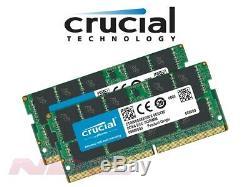 NEW Crucial 64GB (2x32GB Kit) DDR4 PC4-21300 Laptop SO-DIMM RAM Memory 2666MHz