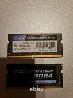 OLOy Laptop Gaming Memory DDR4 RAM 64GB (2x32GB) 2666 MHz CL19 0012