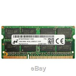 RAM Micron Kits 2x 16GB 2RX8 PC3L-12800S DDR3-1600Mhz 1.35V Laptop SODIMM Memory