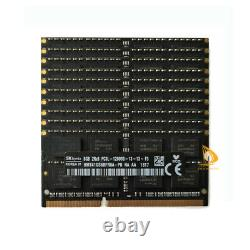 SK Hynix 10x 8GB 2RX8 DDR3 1600MHz PC3L-12800S CL11 SODIMM Laptop RAM Memory! R3