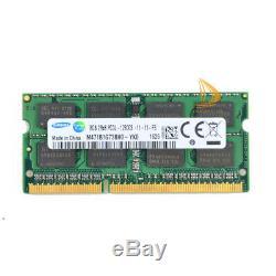 Samsung 20x 8GB 2RX8 PC3L-12800S DDR3 1600MHZ 1.35V SODIMM RAM Laptop Memory @66