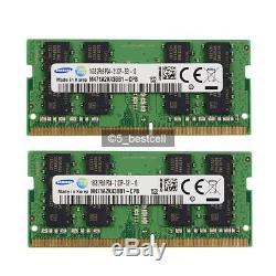 Samsung 32GB 2X 16GB DDR4-2133MHz PC4-17000 260Pin PC4-2133P Laptop Memory Ram