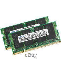 Samsung 8GB KIT 2x4GB 2Rx8 PC2-6400 DDR2-800 200pin SODIMM Laptop Memory RAM