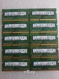 Samsung Pc3l 12800s Joblot of 10x4GB DDR3 laptop memory RAM 204pin 1.35V