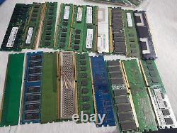 Untested Job Lot Approx 7.5KG Server/Laptop/Desktop Memory Ram Sticks